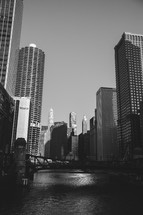a bridge over a canal in Chicago