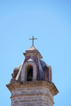church steeple with cross topper