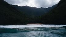island shoreline