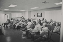 Sunday School and Bible study classroom