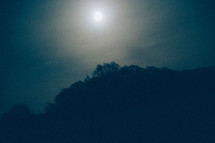Mist and cloud covering the moon