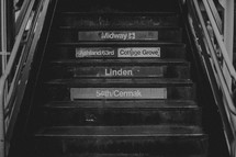 steps in a subway