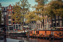 Amsterdam canal and row houses