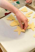 baking Christmas sugar cookies