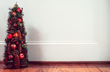 Christmas Tree Decor against a Solid White Background
