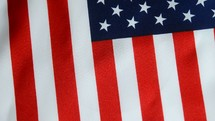 American flag rotating on turntable.