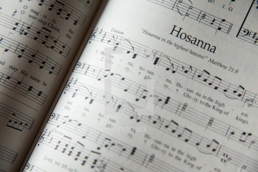 Hosanna in a hymnal