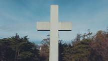 the cross against a blue sky
