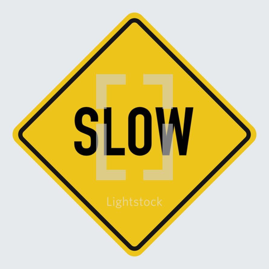 slow street sign