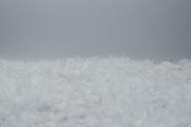 snow border on white