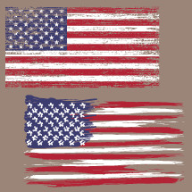 Distressed American flags