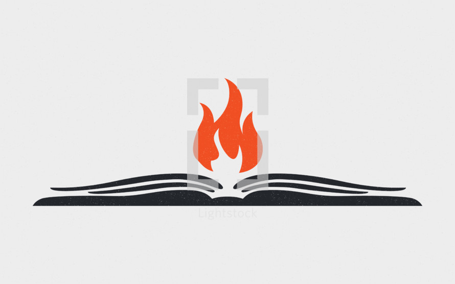 book and flame