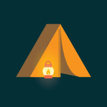 tent and lantern