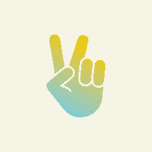 hand giving a peace sign