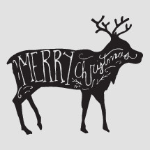 Merry Christmas deer