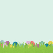 Easter eggs in grass illustration.