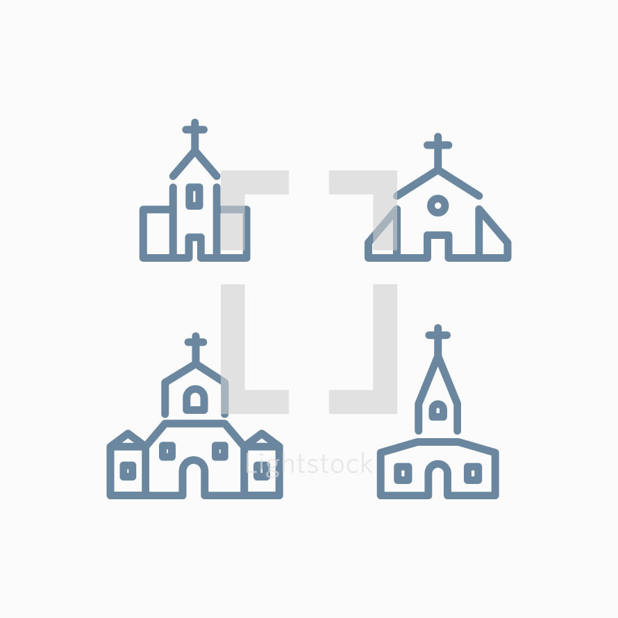 church icons set.