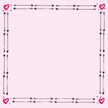 heart and cupid's arrow frame