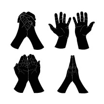 praying hands illustrations.