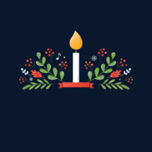 Christmas Candlelight Service Invitation