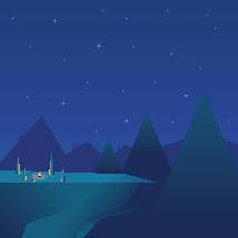 camp fire at night illustration