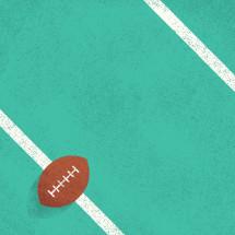 illustration of football on the field.