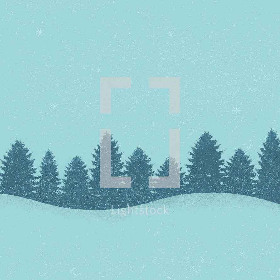 snowy Christmas background.