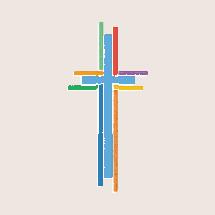 multicolored cross icon