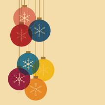 colorful hanging ornaments.