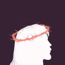 crown of thorns on Jesus