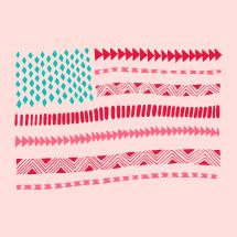 Aztec Patriotic American Flag