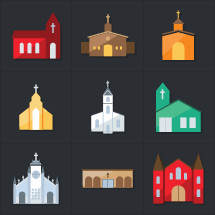 church building icons
