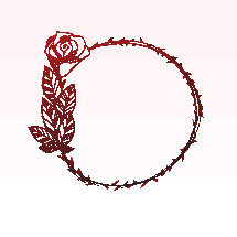 wreath with rose thorns