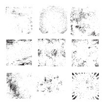 Set of grunge vector background textures.
