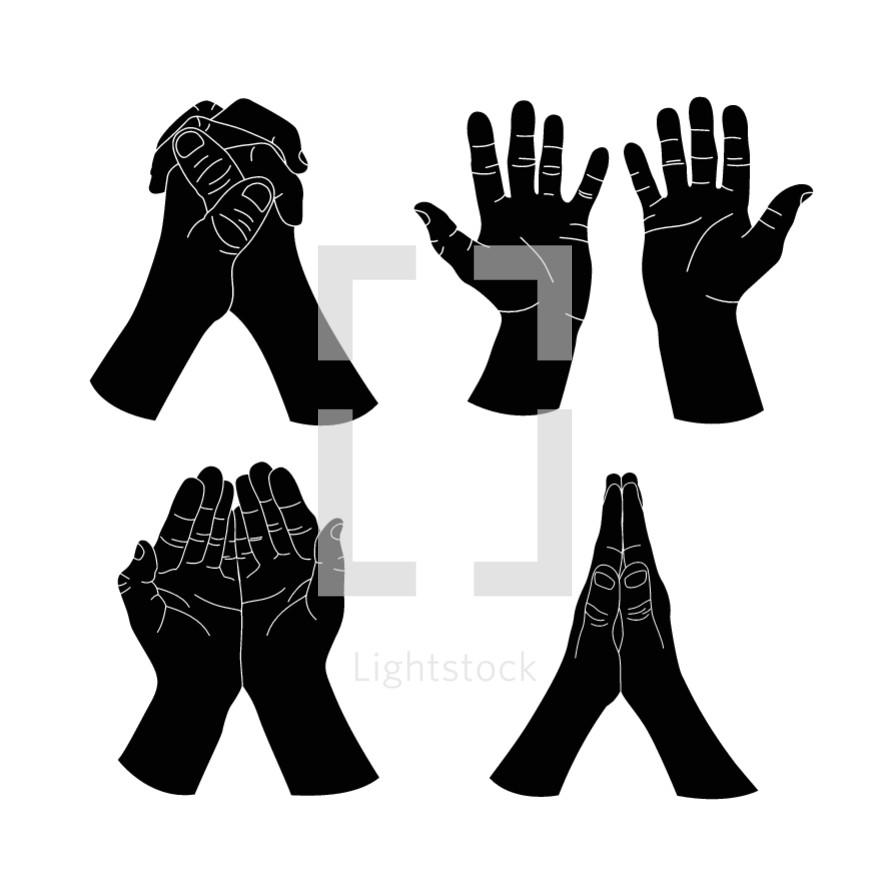 praying hands illustrations.