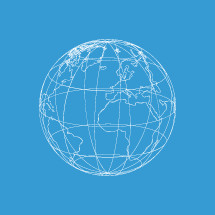 world globe wireframe sketch.