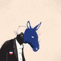 democrat, politician, politics, man, donkey, mask, election, icon