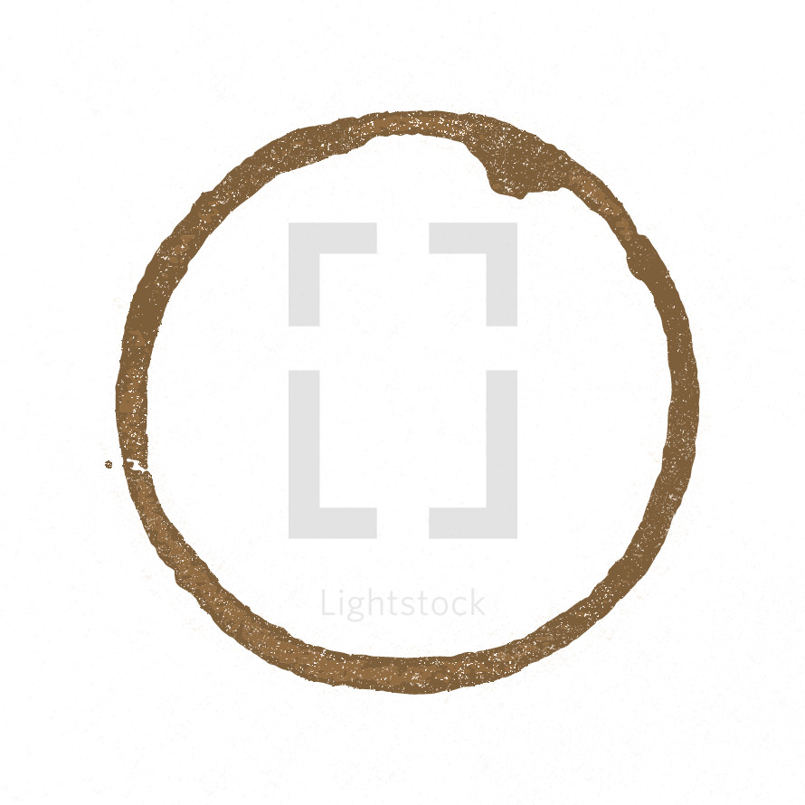 coffee ring stain vector.
