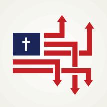 USA morality conceptual illustration.
