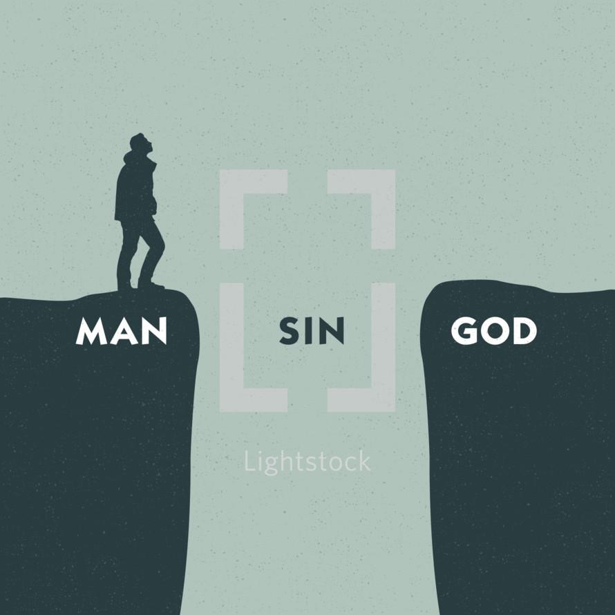 man sin God gap