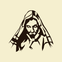 sketch of Jesus looking down