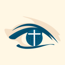 world, globe, cross, eye, sight, vision, world church, international. missions, icon