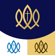 three fish with cross logo