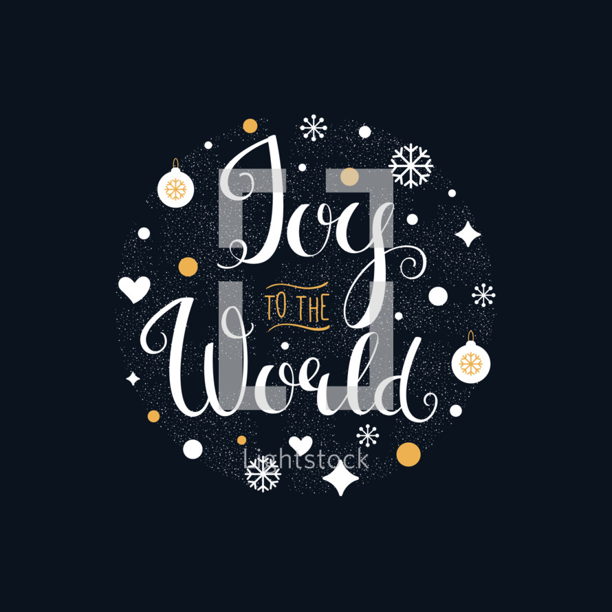 Joy to the World. Hand Lettered Chistmas Sign