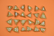 advent cookies on orange