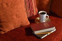 comfortable bible study at home