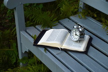 quiet time for the daily bible study. 