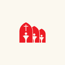 red, white, symbol, people, membership, church, cross, arch, window