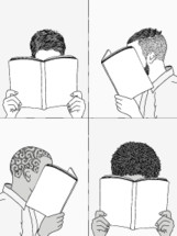 men reading books