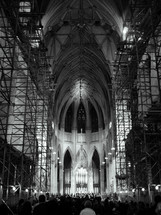 reconstruction inside a cathedral